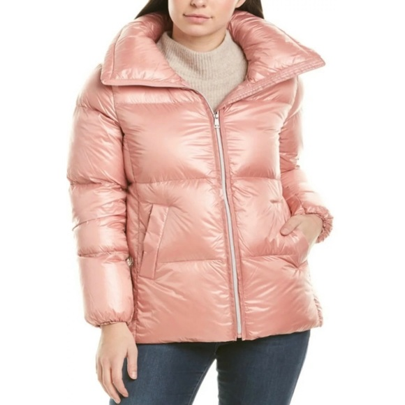 Cole Haan Blush Pink Down Feather Puffer Jacket